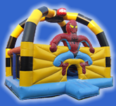 Château Gonflable Spiderman Obstacles